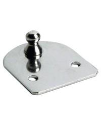 Plaque côté porte 60 x 50 mm Ø10 mm