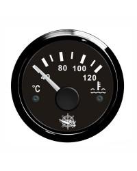 Indicateur de température d'eau - cadran noir - lunette noire - 12/24V