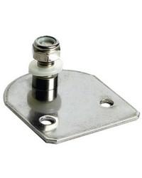 Plaque inox côté porte 60 x 50 mm pivot Ø8 mm