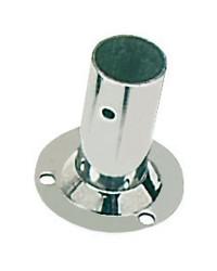 Platine inox soudé ronde droite 90° - 25 mm