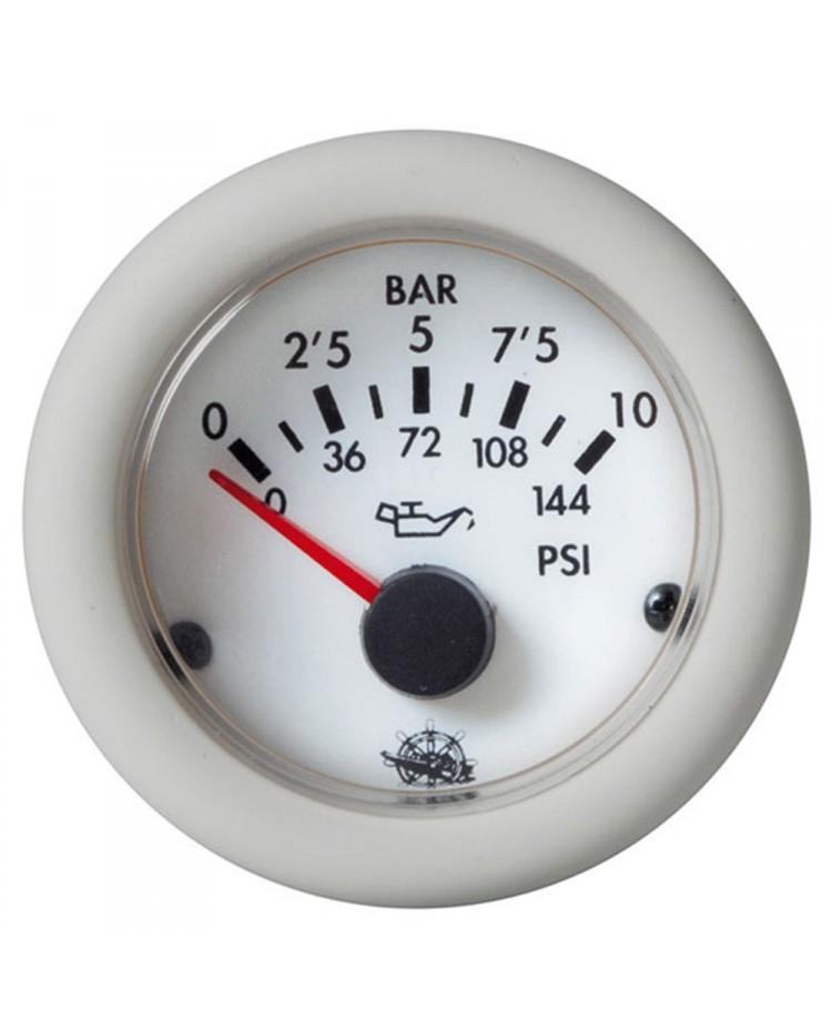 Indicateur de pression d`huile 0-5 bar - 12V - blanc