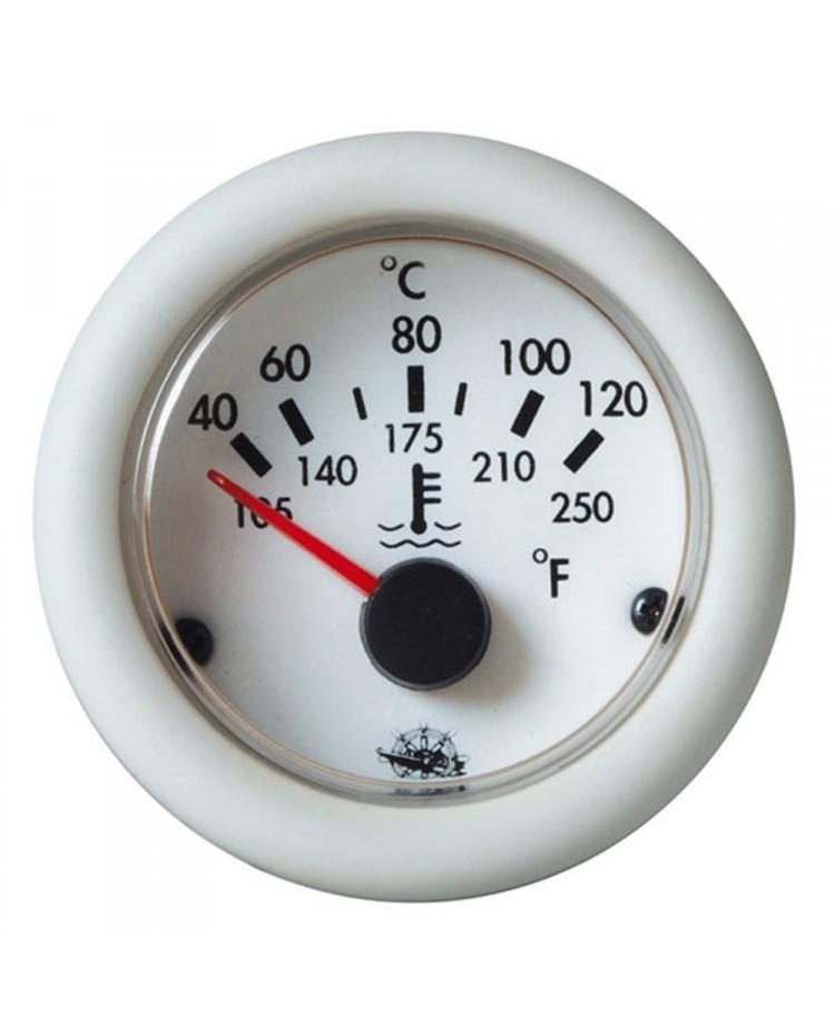 Indicateur de température d'eau 12V - blanc