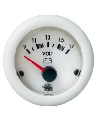 Voltmètre 1016V - blanc 10/16V - blanc