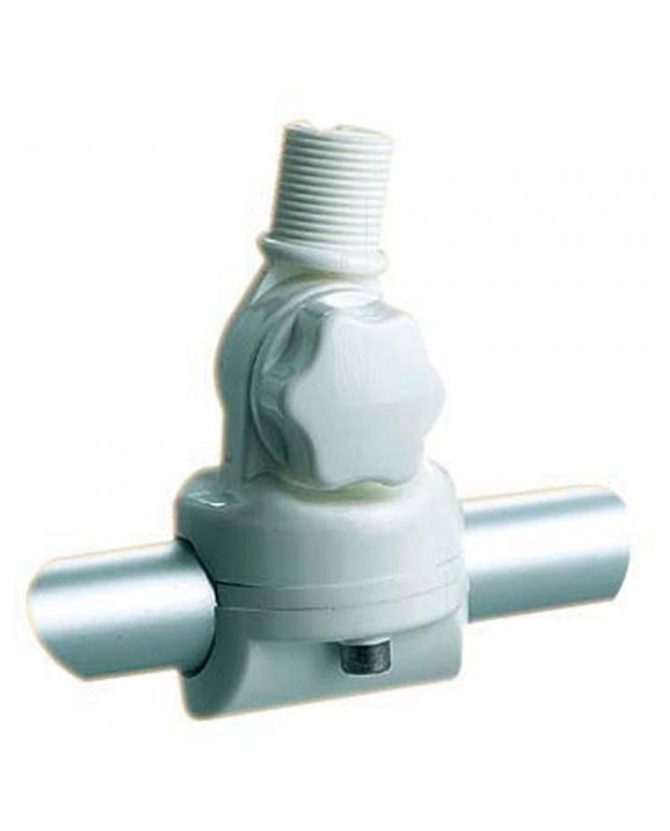 Embase d'antenne VHF nylon - articulé pour balcon tube de 22-25 mm
