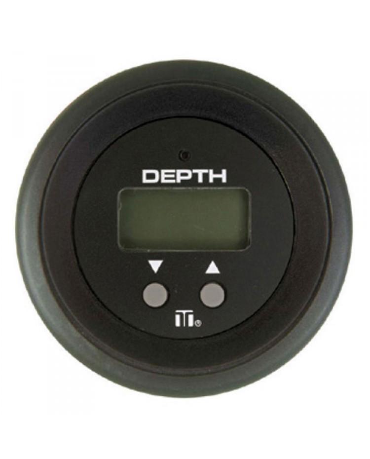 Sondeur digital à encastrer noir