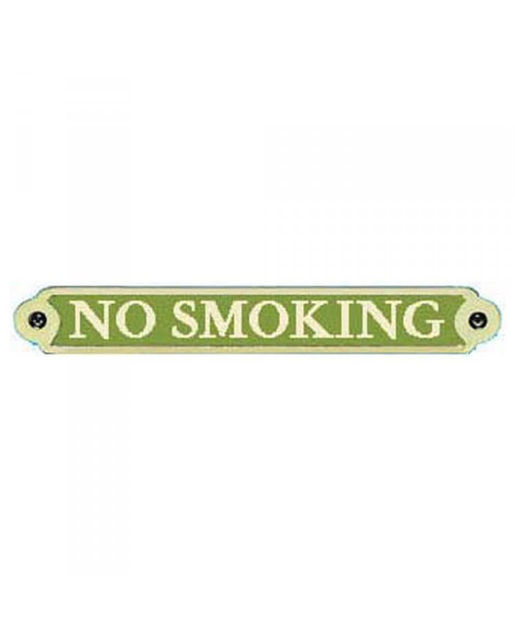 Plaque bronze No Smoking