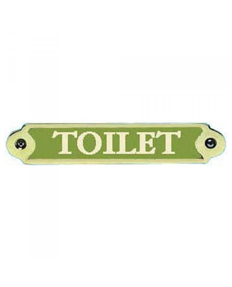 Plaque bronze Toilet