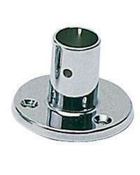 Platine laiton chromé droite - 22 mm