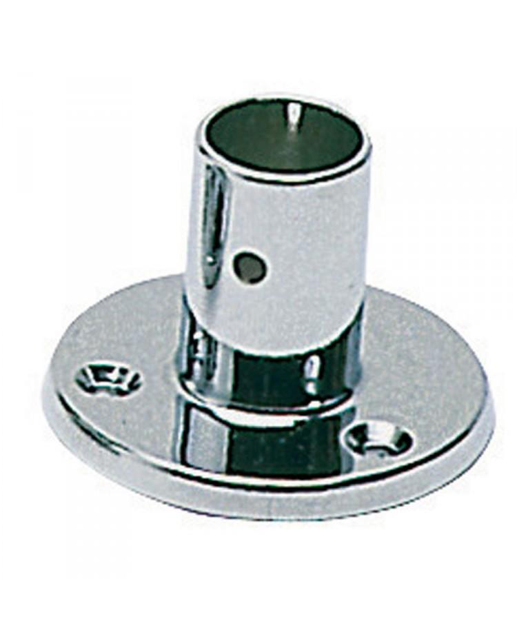 Platine laiton chromé droite - 25 mm