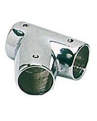Té laiton chromé inclinée 60° - 25 mm - 2 pièces