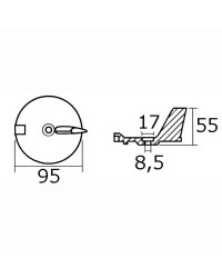 Anode queue de carpe YAMAHA 25/60 HP 4T magnesium