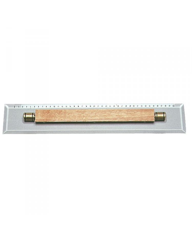 Réglette parallèle millimétrée en plexiglas - 450 mm²