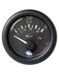 Indicateur de pression d`huile 0-5 bar - 12V - noir