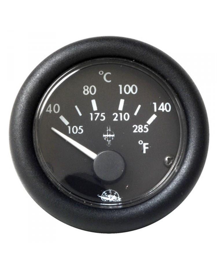 Indicateur de température d'eau 24V - noir