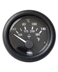 Indicateur de température d'huile 12V - noir