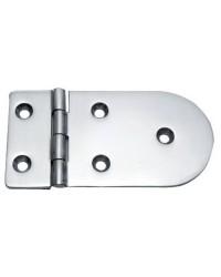 Charnière inox moulée version standard ouverture 180° 128x65 - 4 mm
