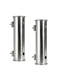 Porte-canne inox 155 mm -  fixation murale