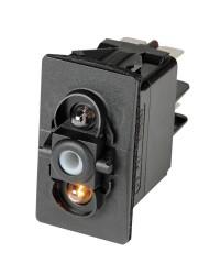 Interrupteur à bascule MON-OFF LED rouge - 12V
