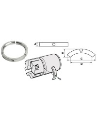 Kit anode VOLVO SailDrive 3p zinc