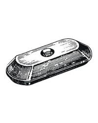 Anode plaque sans encoche OMC/Johnson/Evinrude/Suzuki