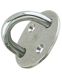 Pontet inox embase circulaire 33 mm - ø 5 mm