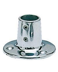 Platine inox ronde droite 90° - 22 mm