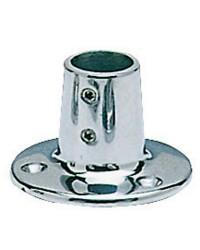 Platine inox ronde droite 90° - 25 mm