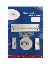 Kit anodes aluminium pour Mercury pour VERADO 4 / OPTIMAX