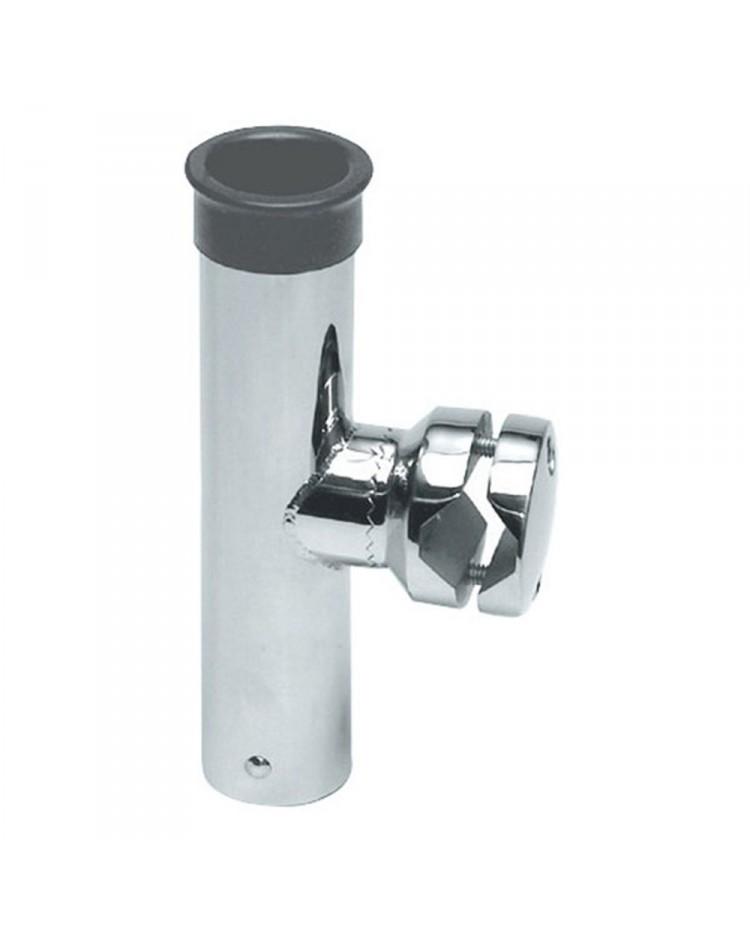 Porte-canne inox - fixation sur tubes de 30 à 35 mm