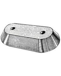 Anode plaque hors bord zinc