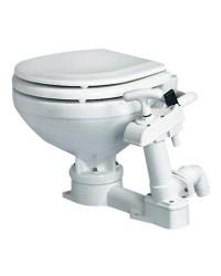 WC manuel - lunette bois laqué blanc