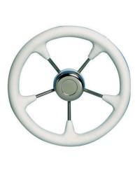 Volant polyuréthane souple-inox ø350 mm blanc
