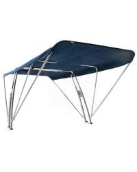 Roll-bar avec bimini pliant 155x330xh120 cm - bleu