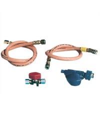 Kit de raccordement gaz pour réchaud