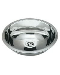 Evier inox rond 387 mm