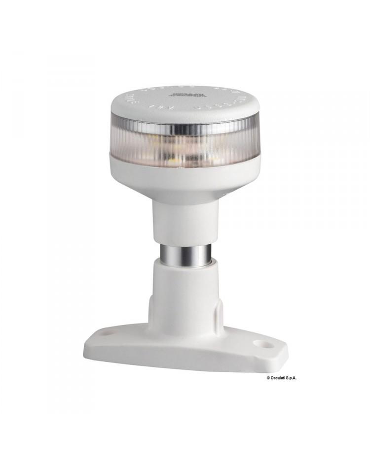 Feu de navigation LED 360° - blanc - sur embase