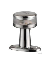 Feu de navigation LED 360° - inox - sur embase
