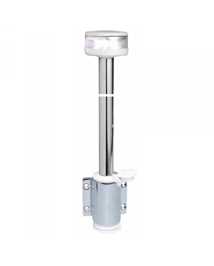 Feu de navigation LED 360° - blanc - sur hampe et base à plaquer