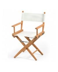 Chaise régisseur teck toile sable