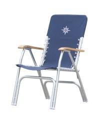 Chaise pliante aluminium modèle DECK bleu navy