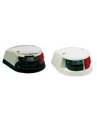Feu de proue bicolore rouge/vert calotte chromé