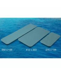 Plaques auto-adhésives antidérapantes - Bleu - 275 x 135 cm