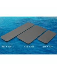 Plaques auto-adhésives antidérapantes - Gris - 275 x 135 cm