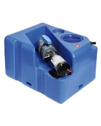 Centrale réservoir eaux noires - broyeur horizontal 40 litres -12V