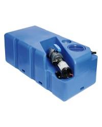 Centrale réservoir eaux noires - broyeur horizontal 80 litres - 24V
