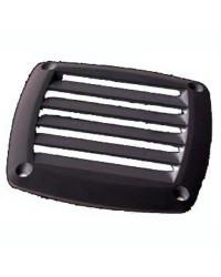 Grille d'aération ABS noire 125x125 mm