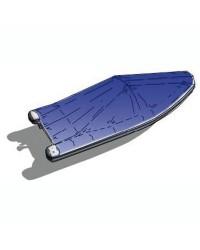Bâche bleue pour canots pointe carrée de 5.30 à 5.60m
