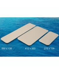 Plaques auto-adhésives antidérapantes - Blanc sable - 412 x