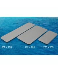 Plaques auto-adhésives antidérapantes - Gris clair - 412 x 2