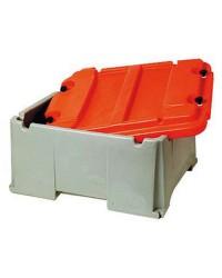 Bac à batterie grande capacité 2 batteries - 120 à 200 A - 585 x 520 x 320 mm